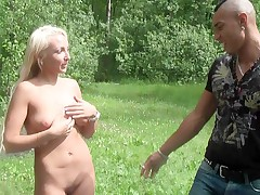 Russian lady pounding stranger in switch roles