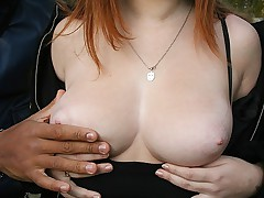 Thick facialed redhead complying 2 tender