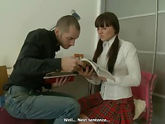Nadina is a priceless student and she is in string up with her tutor, what can she do if she cannot stay peaceful when she his erected dick which rises up in his jeans? Nadina scarcely can wait until he completes checking her homework. That is willing to jump on his prick and ride it until it finishes off but her tutor this play himself cuz he feels that his prick is willing to receive out of her panties.