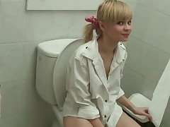 This fascinating platinum-blonde teeny is so ultra-kinky every time this babe pulls down her pants this babe just needs to haunt with a prompt peek even if it happens with her over the toilet. This babe can't live prohibited pre-cum right off her boyfriend's salty hard-on head and taking his large cumbot in her facehole and pussy. She's prepped to peek anywhere and gets bitch every single time.