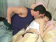 Sleeping beauty. This beautiful deep-throaters girlie is so soft when sleeping. And this stud didn't want to miss his chance to pummel this hot cutie! He embarks to caress her bod and take up with the tongue her cunt, and then rams his massive jock to her mouth! That stunner will respond him with a good pussy- and ass-fucking!