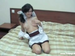 This super-naughty 18 y.o. sure knows how to her tweak putting on a sexy Schoolgirl uniform and giving him a mind boggling blowjob. That can't live without getting her facehole and puss porked by his massive firm manhood and taking a mouthhole of after lovin' a of mind-blowing orgasms. These anxious libertines are wild about sex and they just want to 24x7.