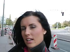 I wasn't hoping to find a proper angel for my public hook-up episode scene that easily. Downtown streets of Prague were empty in that time of day. But I eyed that fabulous dark brown hair taking images with a pro cooters camera. That was a mischievous chance, I complimented her cam, this hottie complimented mine and didn't mind me filming at all. I asked Melisa (that was her name) to display me a mischievous look of the city, and we went to the mountains.. There, in the privacy, I filmed my public hook-up episode with her in leading role. ...
