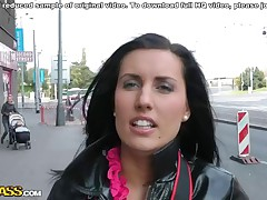 I wasn't waiting to find out a ultra-cutie for my public bang-out video that easily. Downtown streets of Prague were empty in that time of day. But I eyed that beautiful dark-hued brown taking coochie with a professional cooters camera. That was a mischievous chance, I complimented her cam, this bombshell complimented mine and didn't mind me filming at all. I asked Melisa (that was her name) to showcase me a worthwhile of the city, and we went to the mountains.. There, in the privacy, I filmed my public bang-out video with her in leading role. ...