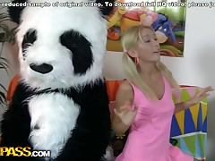 This pretty legal age teenager angel and her panda sure have much joy together! They listen to the music, sing along and dance. But why not doing smth wilder than just dance? So the ash-blonde disrobes naked, toying with a ample dildo. This makes the panda lustful as hell, and luckily, this gifted has smth to satisfy his mischievous friend's lust! A ample jock is to pierce the girl's leaking hole, to make her about anything and mingles into indecent joy fucking. This extraordinaire teenporn episode is sure ...