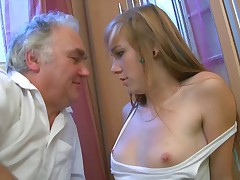 It isn't long prior to this babe is getting ravaged by an old pro. This corpulent old man really noes how to please the juvenile studies and he intends to showcase her just how a real nail should go.