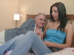 It's not so strange to discover couples seeking the sexual advice of these older and greater amount experienced. This is of course the case with Zarina and her as they get it on with a man over twice their age!