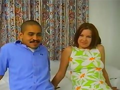 Misty Parks and her Mexican bf are here to discharge a for Homegrown. They one as well as the other appear to be a lil' unsure at Highly very first but one time the camera lad has put them at ease, they receive down to business. Misty acquires on her knees and deep gullets a mean cock, oral-job gymnastics are no problem for this girl! This babe holds onto her man's hips and deep gullets his cock, pausing each now and again to repugnant his balls. to lengthy Misty has got the camera man's bone in her mouth, during the time that being fucked from behind by her man! This babe wails constantly, loving the of 2 rods at once. Her lad her to the daybed with her wazoo in the air, and actually starts to penetrate Misty's pussy, making her gfs and scream. This lad turns her onto her back next, holds her in the air and continues to insert that constricted hole. It's change sides cowgirl next, and Misty rides bone like a champ, squealing in passion. The ends with a worthwhile gloppy creampie!